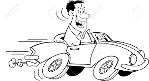 driving a car clipart black and white clipartxtras