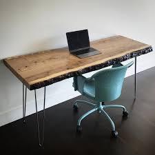live edge computer desk live edge desk
