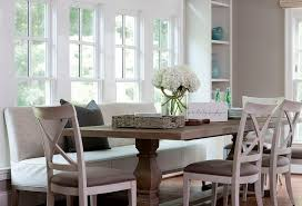 dining room bench with back minimalist dining table with upholstered bench and chairs