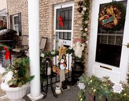 Home Design For Outside Delightful Front Door Christmas Deco Identifying Pleasant Hanging