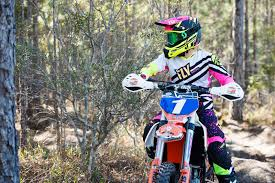womens motocross riding gear kinetic women u0027s pink hi vis racewear fly racing motocross mtb