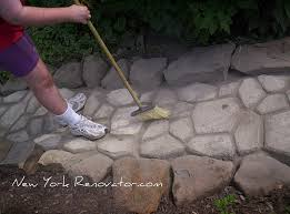 Sand Cement Mix For Patio How To Build A Walkway Using A Concrete Paver Mold New York