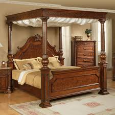 Cool Bedframes Warm Wood Canopy Bed Frame Modern Wall Sconces And Bed Ideas