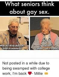 Gay Sex Memes - what seniors think about gay sex what doi think about it gay sex