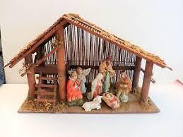 wooden nativity set wooden nativity ebay