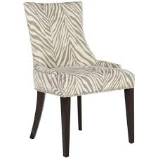 Upholstered Linen Dining Chairs Safavieh Becca Grey Zebra Cotton Linen Dining Chair Mcr4502n The