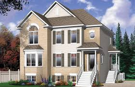 multi family house plans triplex multi family house plans duplex triplex plex plan semi detached