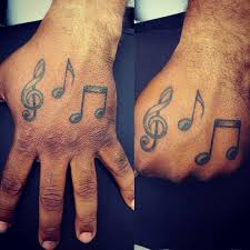 music palm tattoos for men instrument tattoos for men