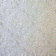 Paintable Textured Wallpaper by Http Www Papermywalls Com Formal Damask Look Heavy Textured