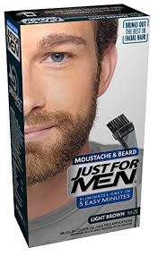 just for men light brown just for men m25 moustache and beard hair color light brown