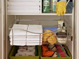 Bathroom Shelving Ideas For Towels Organizing A Linen Closet Hgtv