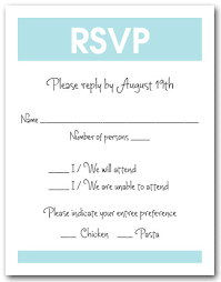 response card white and blue rsvp cards reply cards response cards rsvp