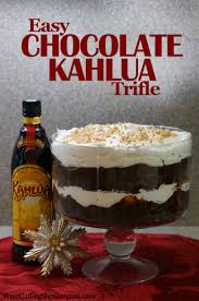 easy kahlua chocolate trifle we u0027re calling shenanigans