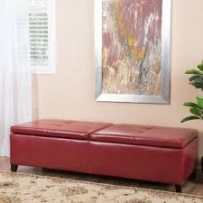 red storage ottomans you u0027ll love wayfair