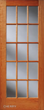15 light french door cherry 15 lite french interior doors homestead doors