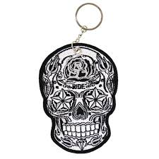 tapatio keychain amazon com leathers double sided key chains sugar skull