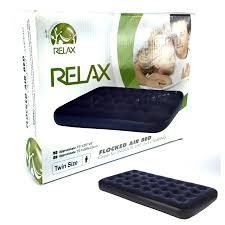 relax flocked air bed twin size great for indoor use or