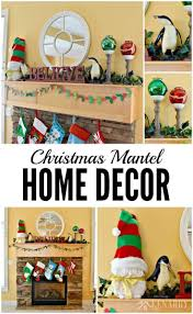 christmas mantel decor ideas red and green accents