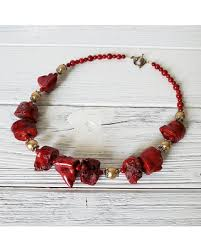 red big necklace images Fall sales on red coral necklace big bold chunky necklaces red