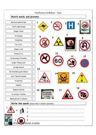 safety signs worksheets fts e info