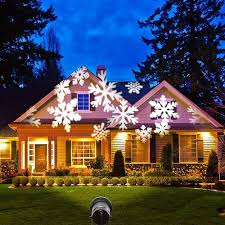 wall christmas light show podofo christmas snowflakes light sparkling landscape l led