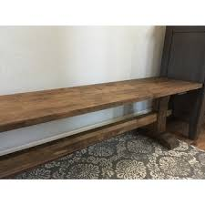 unfinished solid parawood trestle bench free shipping today