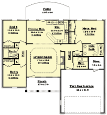 ranch floor plans with split bedrooms ranch house plans three bedroom bath home act