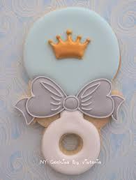 baby shower cookies 12 baby prince rattle cookies baby