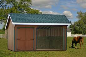 Loafing Shed Plans Horse Shelter by One And Two Story Horse Sheds Equine Shelters And Run Ins