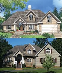 the valmead park plan 1153 craftsman exterior check out the before and after rendering for the valmead park 1153