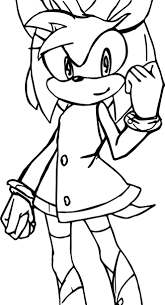 amy rose yes coloring page wecoloringpage