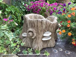 tree stump planters gallery diane husson