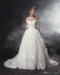 sweetheart neckline wedding dress shoulder half sleeves gown wedding dresses 2016