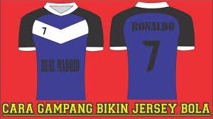 desain kaos futsal di photoshop tutorial membuat desain jersey futsal sepak bola sendiri di corel