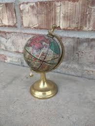 Small Desk Globe Vintage Card Boy Desk Globe Puppy