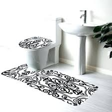 White Bathroom Rug Black Bathroom Rug Set Gruposorna