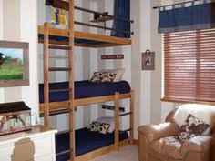 3 Way Bunk Bed My Dad Was A Visionary He Made Me A Triple Bunk For My 3 Person