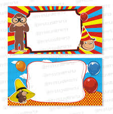 curious george nursery decor curious george theme food labels buffet table cards
