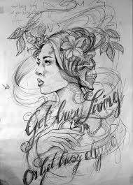 first pencil sketch for a tattoo by uptownpete on deviantart