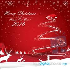 merry and happy new year 2016 the white reindeer and