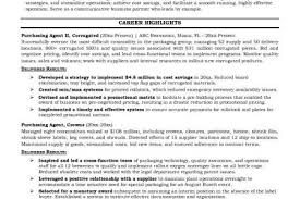 Sample Resume For Purchasing Agent by Example Purchasing Agent Resume Free Sample Buyer Resume Sample