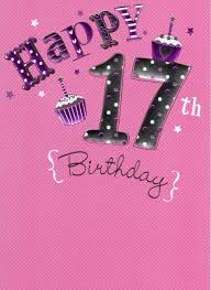 happy 17th birthday foiled greeting card cards kates
