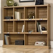Sauder Corner Bookcase by Sauder Barrister Lane Bookcase With Cubbyhole Storage And Metal