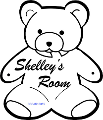 Engraved Teddy Bears Personalized Teddy Bear Room Decoration
