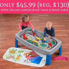 step2 deluxe canyon road train and track table with lid only 45 99 regular 130 step2 deluxe canyon road train table