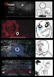 Gears Of War Meme - finding lost match aaaarggh meme inside gears of war