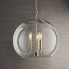 glass globe pendant light clear glass globe chandelier and crystal pendant light shades of