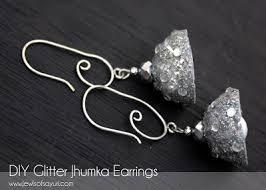 how to make jhumka earrings how to make glitter jhumka earrings jewels of sayuri