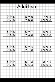 3 digit addition with regrouping u2013 carrying u2013 6 worksheets free