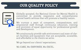 Iso 9001 Quality Policy Statement Exle by Transparency